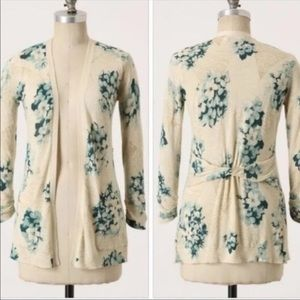 Anthropologie Guinevere Floral Cardigan Small
